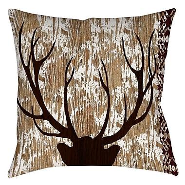 East Urban Home Square Deer Indoor/Outdoor Throw Pillow; 18'' H x 18'' W x 5'' D