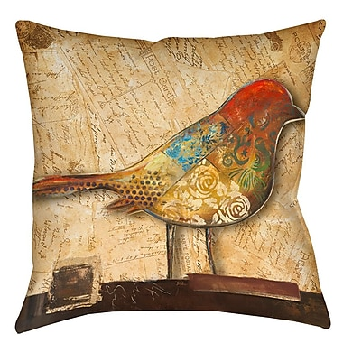 East Urban Home Double Sided Bird Printed Throw Pillow; 20'' H x 20'' W x 5'' D
