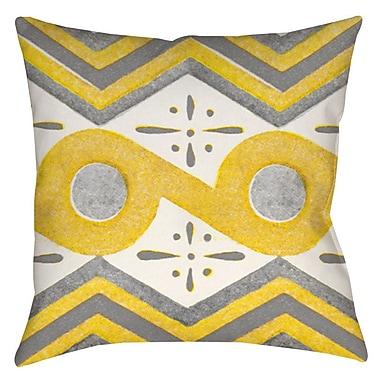 Latitude Run Salzman Indoor/Outdoor Throw Pillow; 16'' H x 16'' W x 4'' D
