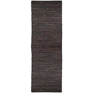 Latitude Run Sandford Hand-Loomed Brown Area Rug; Runner 2'6'' x 14'