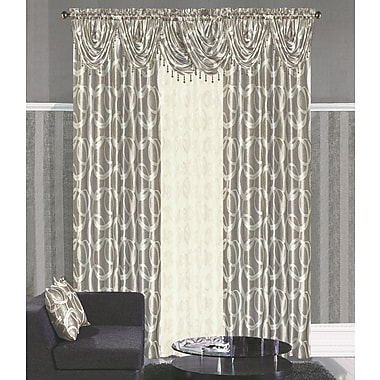 Dainty Home Memphis Single Curtain Panel; Silver