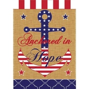 DicksonsInc Patriotic Anchored in Hope Stars 2-Sided Garden Flag