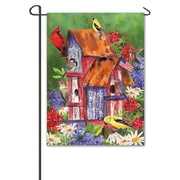 DicksonsInc Patriotic Birdhouses w/ Birdwatcher 2-Sided Garden Flag; Large