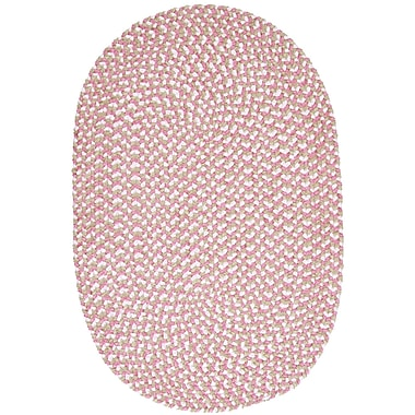 August Grove Boice Pink Area Rug; Oval 2' x 4'