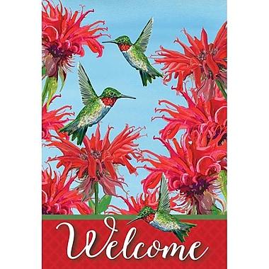 DicksonsInc Welcome Tiny Wonders Hummingbirds and Bee 2-Sided Garden Flag