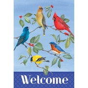 DicksonsInc Welcome Songbirds and Spring Branches 2-Sided Garden Flag