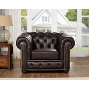 Fleur De Lis Living Katharine Top Grain Leather Armchair