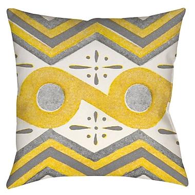 Latitude Run Salzman 2 Printed Throw Pillow; 20'' H x 20'' W x 5'' D