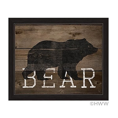Union Rustic 'Bear Silhouette' Framed Graphic Art; 24'' H x 30'' W x 1'' D