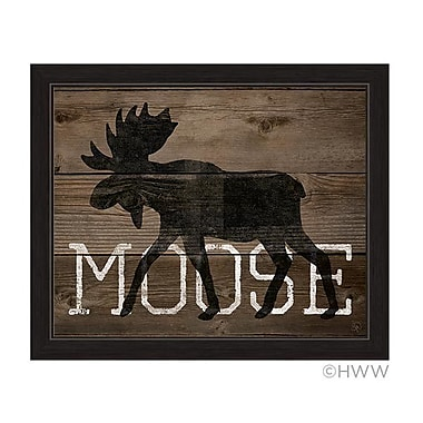 Union Rustic 'Moose Silhouette' Framed Graphic Art; 19'' H x 23'' W x 1'' D