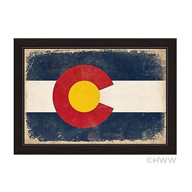 Union Rustic 'State of Colorado Flag' Framed Painting Print; 23'' H x 33'' W x 1'' D