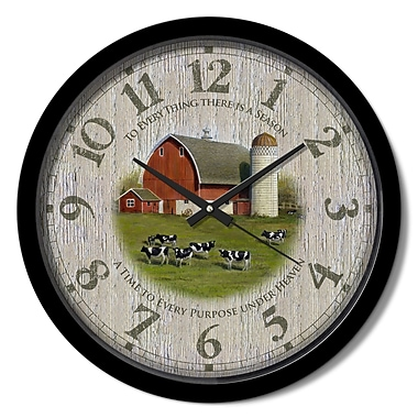 August Grove Nevill Down on the Farm 15'' Analog Wall Clock