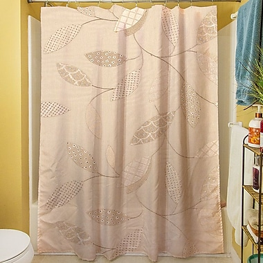 August Grove Wasinger Shower Curtain; Taupe