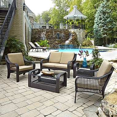 Latitude Run Sandoval 5 Piece Seating Group w/ Cushions