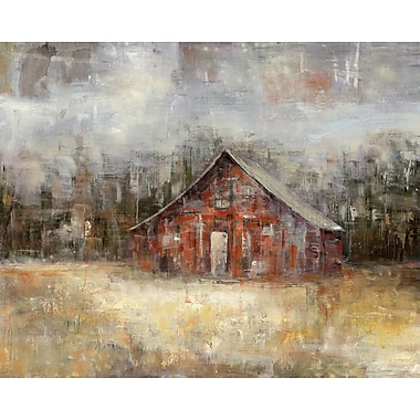 Loon Peak 'Barnscape' Painting Print on Wrapped Canvas; 30'' H x 40'' W x 1.5'' D