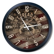 Williston Forge Amal Don't Tread on Me 2nd Amendment 15'' Analog Wall Clock