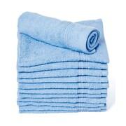 Winston Porter Peabody 12 Piece Cotton Washcloth Towel Set (Set of 12); Light Blue