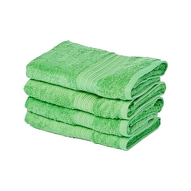 Winston Porter Peabody 4 Piece Hand Towel Set (Set of 4); Poison Green