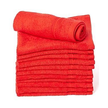Winston Porter Peabody 12 Piece Cotton Washcloth Towel Set (Set of 12); Red