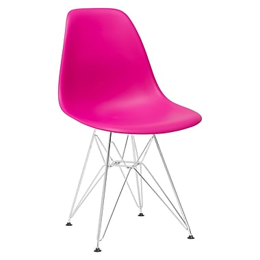 Varick Gallery Rafael Contemporary Side Chair (Set of 2); Fuchsia