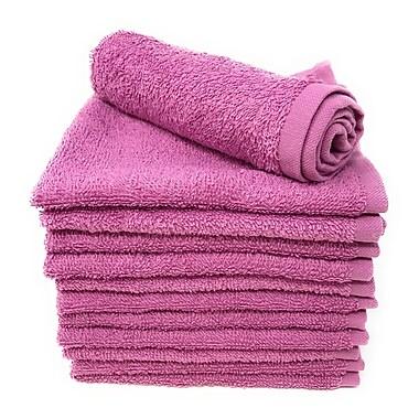 Winston Porter Peabody 12 Piece Washcloth Towel Set (Set of 12); Mulberry Purple