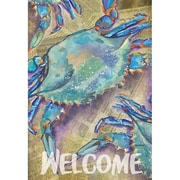 DicksonsInc Welcome Crabs on Newspaper 2-Sided Garden Flag