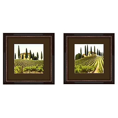 Fleur De Lis Living 'Tuscan View' 2 Piece Framed Painting Print Set