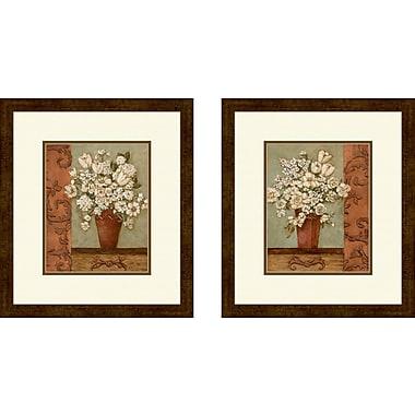 Fleur De Lis Living 'Intaglio' 2 Piece Framed Painting Print Set