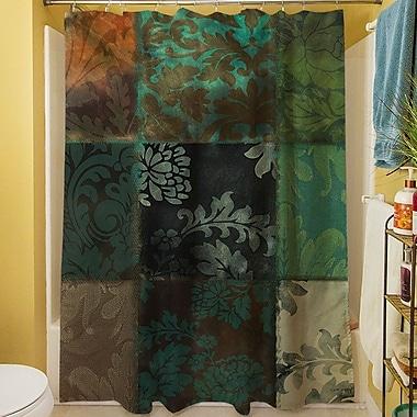 Fleur De Lis Living Rosalinda Shower Curtain; Green