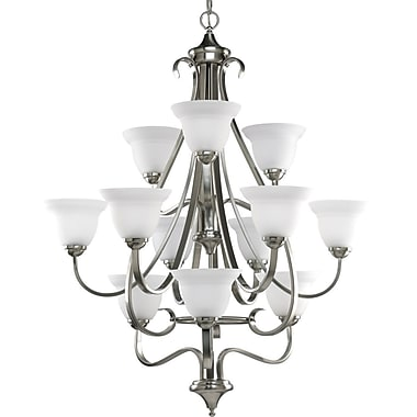 Fleur De Lis Living Lilly Traditional 12-Light Shaded Chandelier