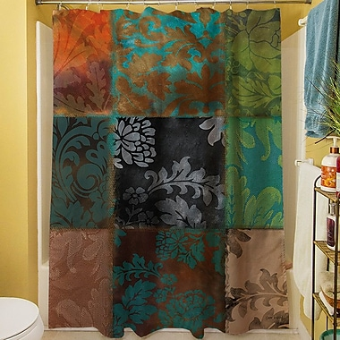 Fleur De Lis Living Rosalinda Shower Curtain; Brown
