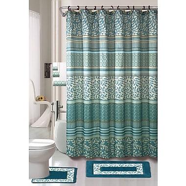 Latitude Run Satter 18 Piece Shower Curtain Set