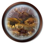 Loon Peak San Juan Bautista Moose Collage 15'' Analog Wall Clock