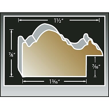 Bay Isle Home 'Stairway To The Sky' Graphic Art Print; Black Wood Grande Framed Paper