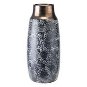Bloomsbury Market Spiritwind Stoneware Metal Table Vase; 14.1'' H x 6.5'' W x 6.5'' D