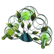 Wine Bodies Tressie Beautiful and Colorful Peacock 5 Bottle Tabletop Wine Rack