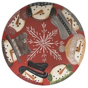 The Holiday Aisle Snowman Border Decorative Plate