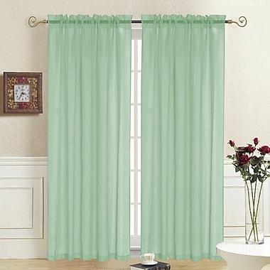 August Grove Odoms Solid Semi-Sheer Rod Pocket Single Curtain Panel; Sage
