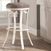 Loon Peak Karsten Round Swivel Bar Stool; White