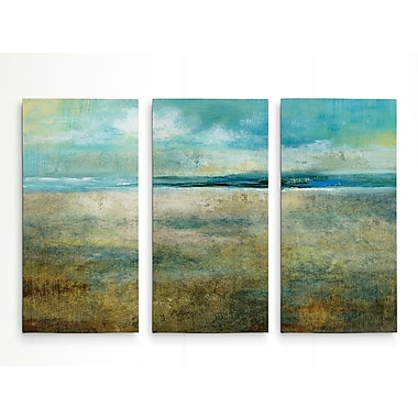 Highland Dunes 'Delightful Day' Acrylic Painting Print Multi-Piece Image on Wrapped Canvas