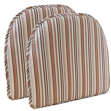 Highland Dunes Chair Cushion (Set of 2); Brown