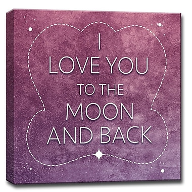 Harriet Bee 'I Love You to the Moon And Back' Framed Textual Art on Wrapped Canvas