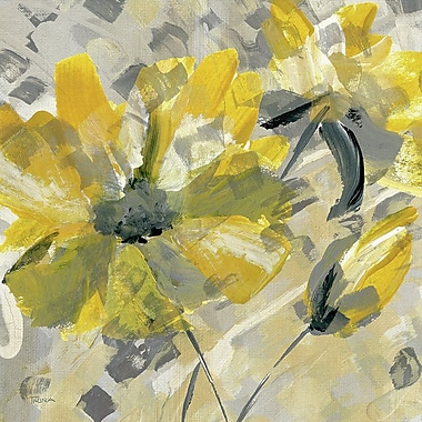 Red Barrel Studio 'Buttercup I' Painting Print on Wrapped Canvas; 13'' H x 13'' W x 1.375'' D
