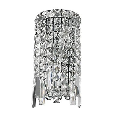 Rosdorf Park Clare 2-Light Polished Chrome Clear Crystal Cascade Wall Sconce