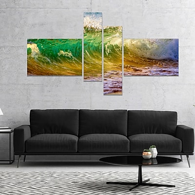 East Urban Home 'Ocean Turning Green' Photographic Print Multi-Piece Image on Canvas