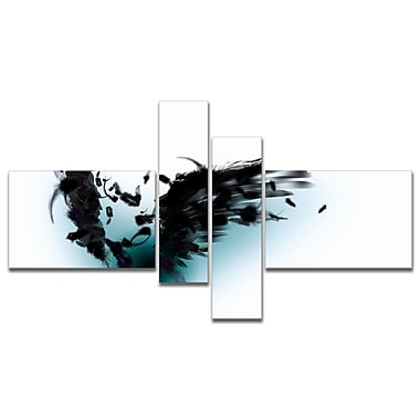 East Urban Home 'Black Wings' Graphic Art Print Multi-Piece Image on Canvas