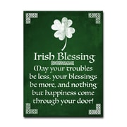 Winston Porter 'Irish Blessing' Graphic Art on Canvas; 16'' H x 12'' W x 0.75'' D