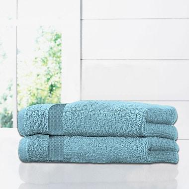 Alcott Hill Ruhlman Blue Bath Towel Set (Set of 2); Aqua