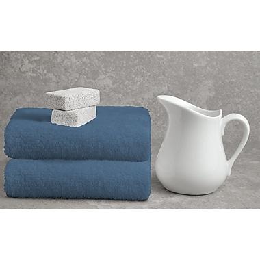 Alcott Hill Ruhlman Blue Bath Towel Set (Set of 2); Denim