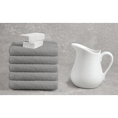 Alcott Hill Ruhlman White Hand Towel Set (Set of 5); Dark Taupe